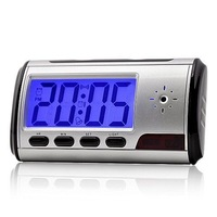 Digital Clock Hidden Camera DVR USB Motion Alarm digital camera mini DV DVR Free shipping