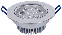 Recessed LED Celling spotlights Wholesale 7W LED Downlights warmwhite led ceiling light AC85-265V energy-efficient 9611-7
