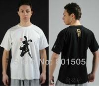 """Classic """"Wu"""" word T-shirt Tracksuit, Martial Arts Kung Fu Wu Shu 100% Cotton Tee shirt"""