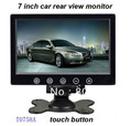 Free shipping (1pc/lot) 7inch 16:9 TFT car rear view monitor, headrest/stand, touch button,2 AV input, 1 way for car rear view