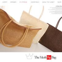 2014 Candy Color Woven Beach Bags Casual Big Capacity Women Handbag One Shoulder Bags 14 Color