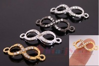 Wholesales 2.5*1cm  Diy Jewelry Making Mini Size Cute Infinity Charms Bracelets Making