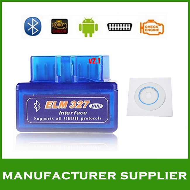 2014 version V1.5 super mini elm327 bluetooth obd ii bluetooth obd2 scanner elm327 bluetooth obdii free shipping(China (Mainland))
