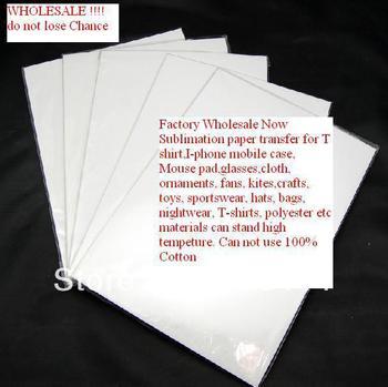 "100PCS A4 8""x11"" Sublimation paper, work with sublimation ink dye sublimation paper for iphone case,T-shirt,clothes etc"