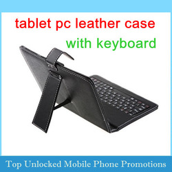 7 inch 8 inch 9.7 or 10 inch Protective Keyboard Stand Leather Case for Tablet PC MID USB 2.0 Multi languge Russian letters(China (Mainland))