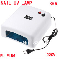 UV Lamp 36W 220-240V Gel Curing Nail Art (EU Plug) with 4pcs 365nm UV Bulb Free Shipping Dropshipping