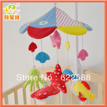 Free shipping Plush bed bell for baby plush baby toys factory baby bedding sets