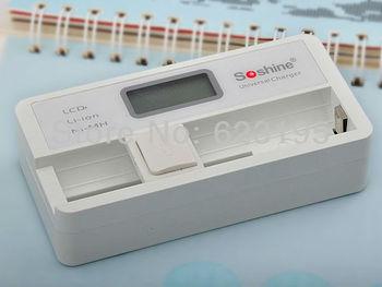Soshine SC-S7 LCD Universal 3.7v charger for 18650 16340 14500 Li-ion/ 1.2v charger AA/AAA Ni-MH battery (US Power Supply)