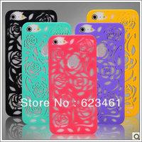 For iphone 5 Plastic flower design case