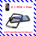 Free shipping! for Google Nexus 4 LG E960 2 in1 bumper case smartphone, mobilephone case, cellphone case +screen protector
