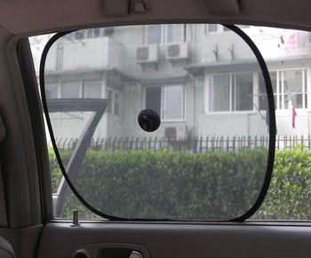 1 set 2pcs Black Side Car Sun Shade Rear Window Sunshade Cover Mesh Visor Shield Screen # 3112