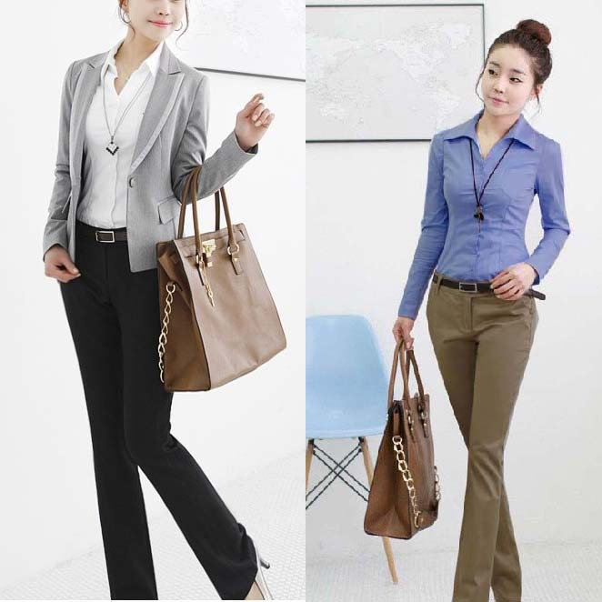 Best price 2013 Designer Office Lady Formal Suit Pants Large Size S-2XL Slim Women Fashion Khaki Trousers Free Shipping C806X(China (Mainland))