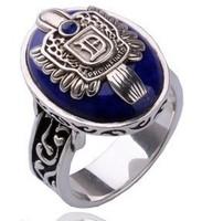 Free Shipping free bags wholesale The Vampire Diaries Damon Salvatore retro silver ring natural lapis lazuli fashion jewelry