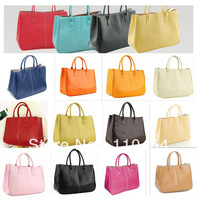2013 Hot Women Elegant  Bags PU leather HOBO  Handbags  women tote bags candy color messenger bag for women