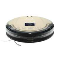(Free To Brazil) Robotic Vacuum Cleaner 4 In 1 With LCD Screen,Touch Button,Schedule Work,Virtual Wall,Auto Charging