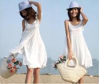 Short design bohemia one-piece dress beach dress 100% cotton