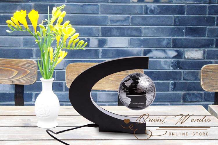 freeshipping/dropshipping Magnetic levitation floating globe novelty gift led light cool toy(China (Mainland))