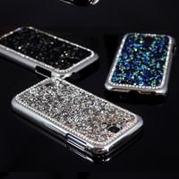 For Galaxy S4 i9500 Luxury Bling 3D Rhinestone Diamond Glitter Hard Back Case Cover For Samsung Galaxy i9500 S4