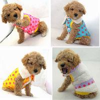 5 Size Pet Puppy Dog winter clothes double veste pet quilted jacket MJ10