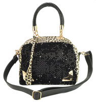 Free Shipping! 2013 Fashion Women's Hangbag Leopard print paillette Shoulder bag VK1286