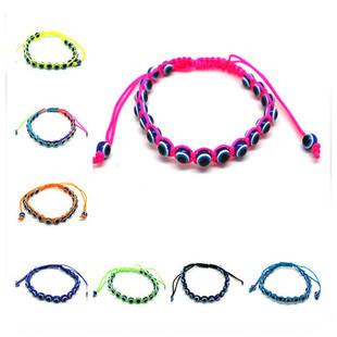 Minimum Order $6  Best Selling Evil Eye Friendship Bracelet Beaded Multic Cords Bangle Lucky Jewelry B1-104