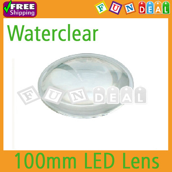 Free shipping! 100mm Transparent High Power Led Lens Reflector Collimator 5-90 Degree for 10w-100w LED Light/Lamp