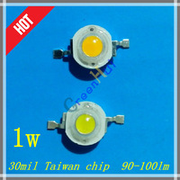 1W 30mil Taiwan chip 90~100LM High-power LED light source mining lamps Light-emitting diodes CE&ROHS 500pcs/lot free shipping