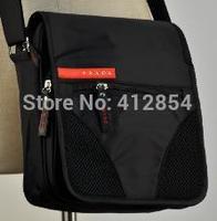 G Male Man black strap canvas shoulder small bag A7