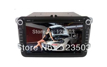 8Inch  Vw Golf Car DVD Player +GPS +Wheel control +USB/SD+Touch screen
