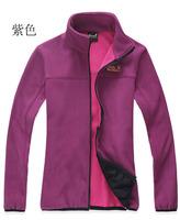Free shipping High Quality Women's Outdoor  Waterproof Climbing Outdoor Fleece Jackets polyester Microfleece Sportwear 2108