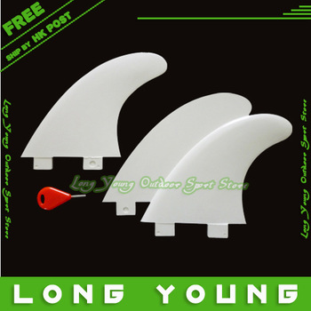 Best quality Water Sports plastic surf fins for surfboard white color 3PCS/set  ,free shipping