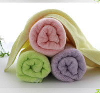 Hot sale Kids Towels Brand bamboo fabric high quality kids face towel size (28*28cm)  52g weight of Eco-friendly pm74 002