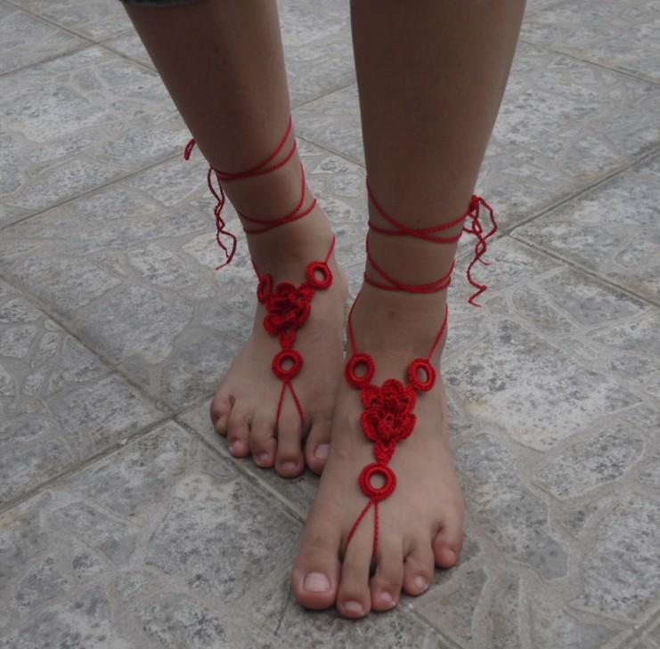Beach Sandals: Free Crochet Foot Jewelry Patterns