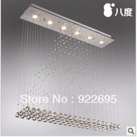 Modern brief led restaurant lights crystal lighting bar partition crystal lamps curtain