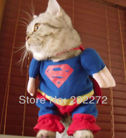 Free shipping dog clothes pet apparel cat costume lovely superman for puppy dog fashion designer high quality brand new suit