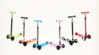 EMS / FEDEX Free shipping adjustable (60cm-90cm) Folding MICRO Maxi Scooter for 5-12years old kids kick scooter for boys & girls