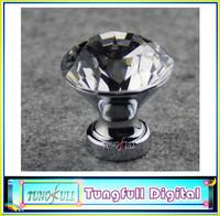 2013 newLot of 10 Modern Fashion K9 Crystal Glass Chrome Cabinet Knobs Pull Handle New (Diameter: 30MM)