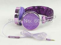 2014 diamond bling headphone headset for girls rhinestone headphone microphones microphones accessories for ps3