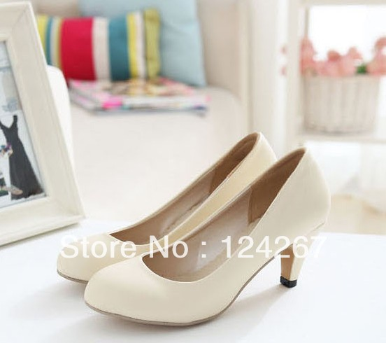 New 2013 spring formal thick heel medium hells shoes plus size 35-41 SH075(China (Mainland))