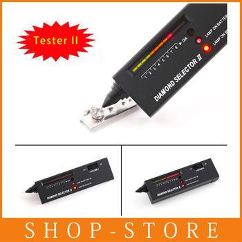 Free Shiping NEWEST Metal alert Gems Diamond Gemstone Tester Selector II Tool LED+Audio