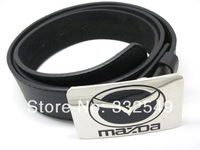 Chrome MAZDA LOGO BELT BUCKLE with Free belt , Free shipping worldwide