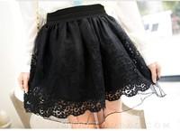 Free Shopping 2013 New Fashion Ladies Waist Skirt  Womens Bud Silk  Hook Flower Sexy Mini Tutu Skirt