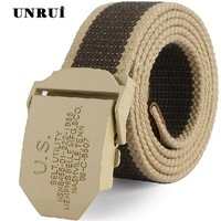 men's  canvas belt men's automatic button canvas belt plus length