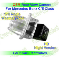 Free shipping! HD Rear View Mercedes Benz C,E Class CCD night vision car reverse camera auto license plate light camera