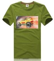[ANYTIME] Car Prints High Quality 100% Cotton Short Sleeve Mature Tops & Tees Men's Clothing T shirts Black Fashion T-Shirts
