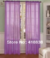 """Free shipping- 40""""X84"""" wholesale 2pcs/set  Voile Curtain,Europe gauze curtain  fringe panel,  wedding drapery WS-1900"""