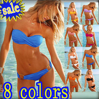 Sexy bikini with PAD Holiday Sale 2013 Fashion Brand woman Hot swimsuits Ladies swimwear beachwear W5001