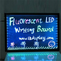 Guarantee 100% Ultrathin hard and clear Tempered glass 60x80x1.2cm LED writing board FOB Bargaining