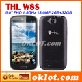 New! THL W8+  5&quot; FHD Screen 1920*1080p 12MP HD Camera MTk6589 Quad Core 1GB+16GB WCDMA 3G Smartphone(China (Mainland))