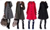 Free shipping!!!2013 spring/autumn plus coat women's cloak wool coat medium-long thickening woolen outerwear snow wearing